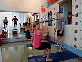 a Pilates class
